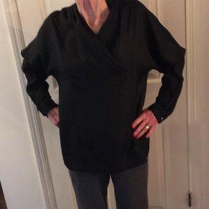 Tops - Pure silk black blouse